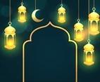 Eid Mubarak Lantern Background