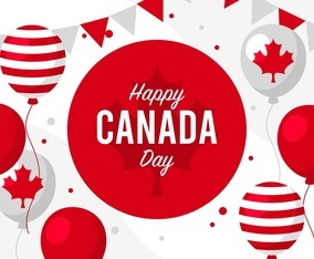 Canada Day Background Concept