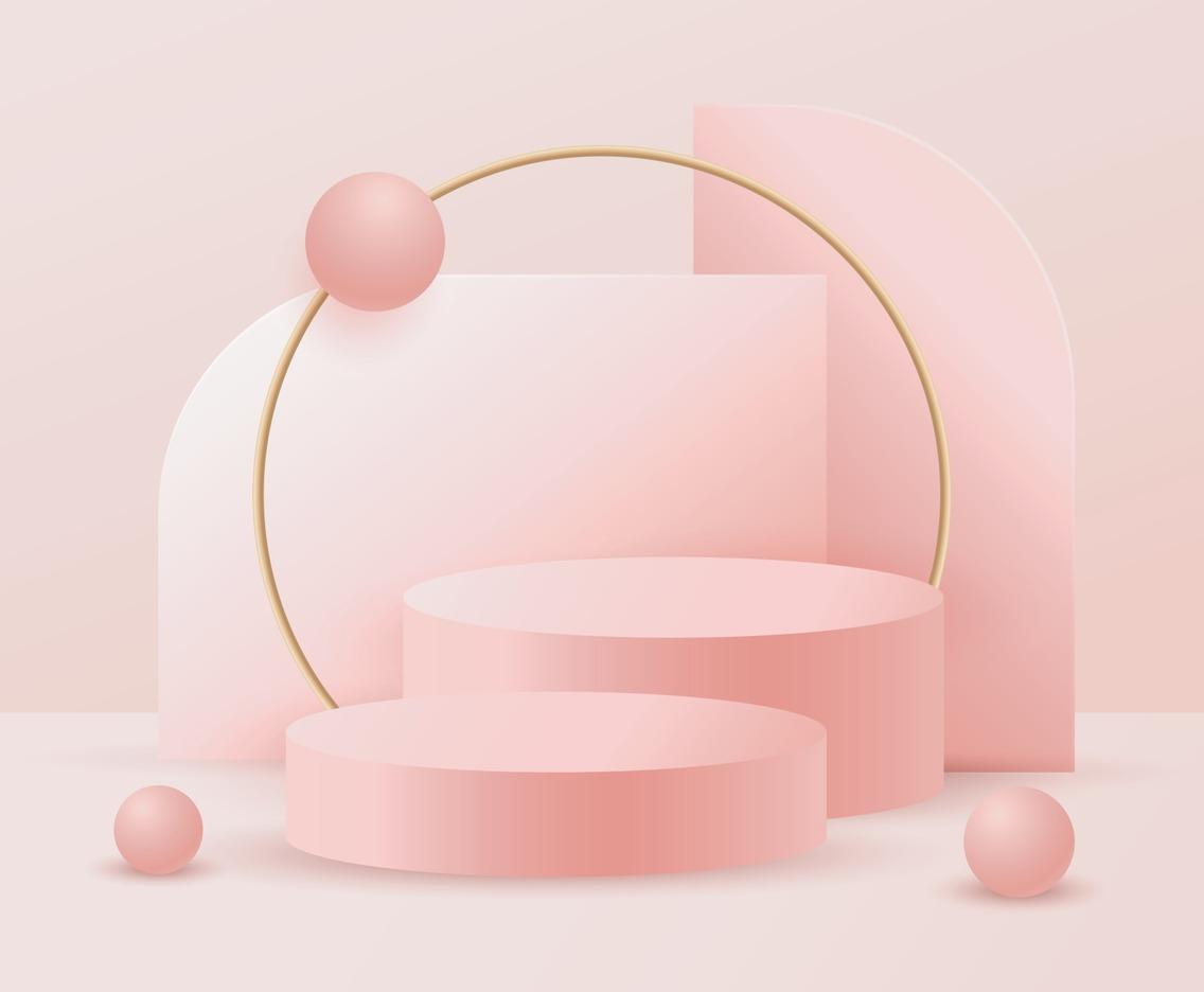 Pink Podium Background