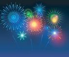 Colorful Fireworks Illustration