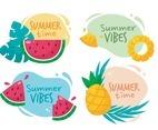Summer Fruits Sticker Collection