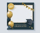 Graduation Photo Frame Template