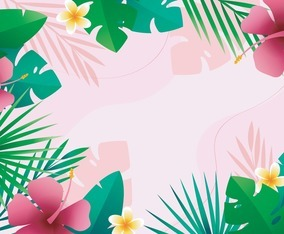 Floral Tropical Background