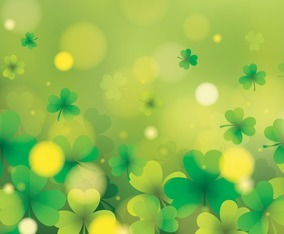Abstract Clover Scenery Background