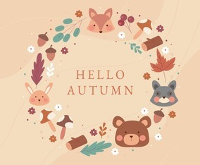 Hello Autumn Cute Background
