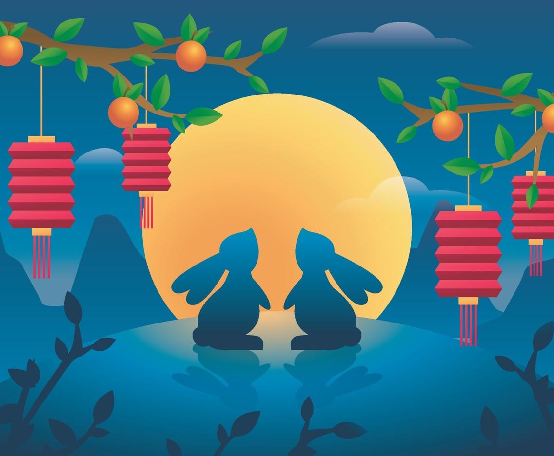 Chuseok Festival Celebration at Night