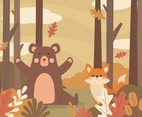 Autumn Animal in Forest