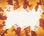Autumn Floral Frame Background