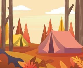 Autumn Camping Background