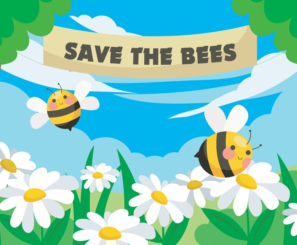 Bee Honey Protection Concept