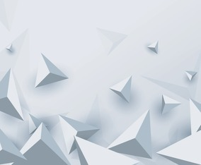 Abstract Triangle White Background