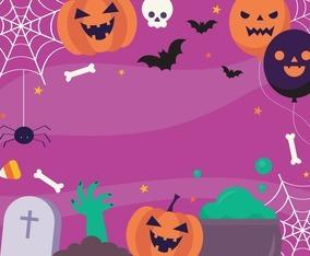 Happy Halloween Background Template