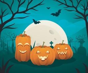 Halloween Scenery Background