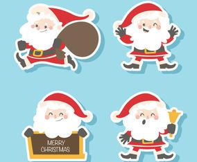 Set of Santa Claus Sticker