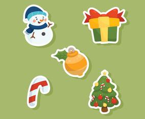 Christmas Items Sticker Set
