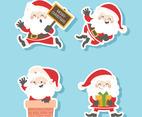 Set of Santa Claus Stickers