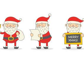 Set of Santa Claus Character