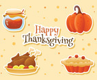 Set of Thanksgiving Stickers