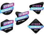 Set of Cyber Monday Stickers